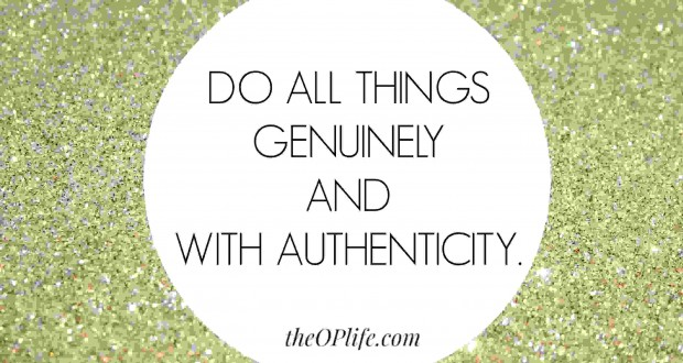 How to be authentic