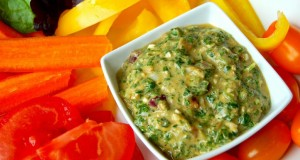 Raw spinach dip