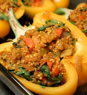 Quinoa stuffed peppers with a hint of Paprika